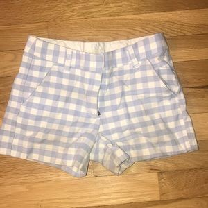 Crewcuts checkers cotton 2 pockets girl shorts 10